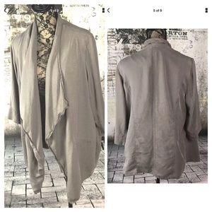 Alfani Sand Taupe Light Brown Lyocell Jacket